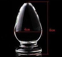 Sex Toys Adult Toys Transparent Glass Crystal Anal Butt Plug G-spot Stimulate Unisex backyard anal plug (8*4 cm)C