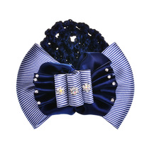 4pcs/lot Crystal hearts silk lace bowknot professional hair clip bow,beads Super popular Airport Hotels Women hair accessories