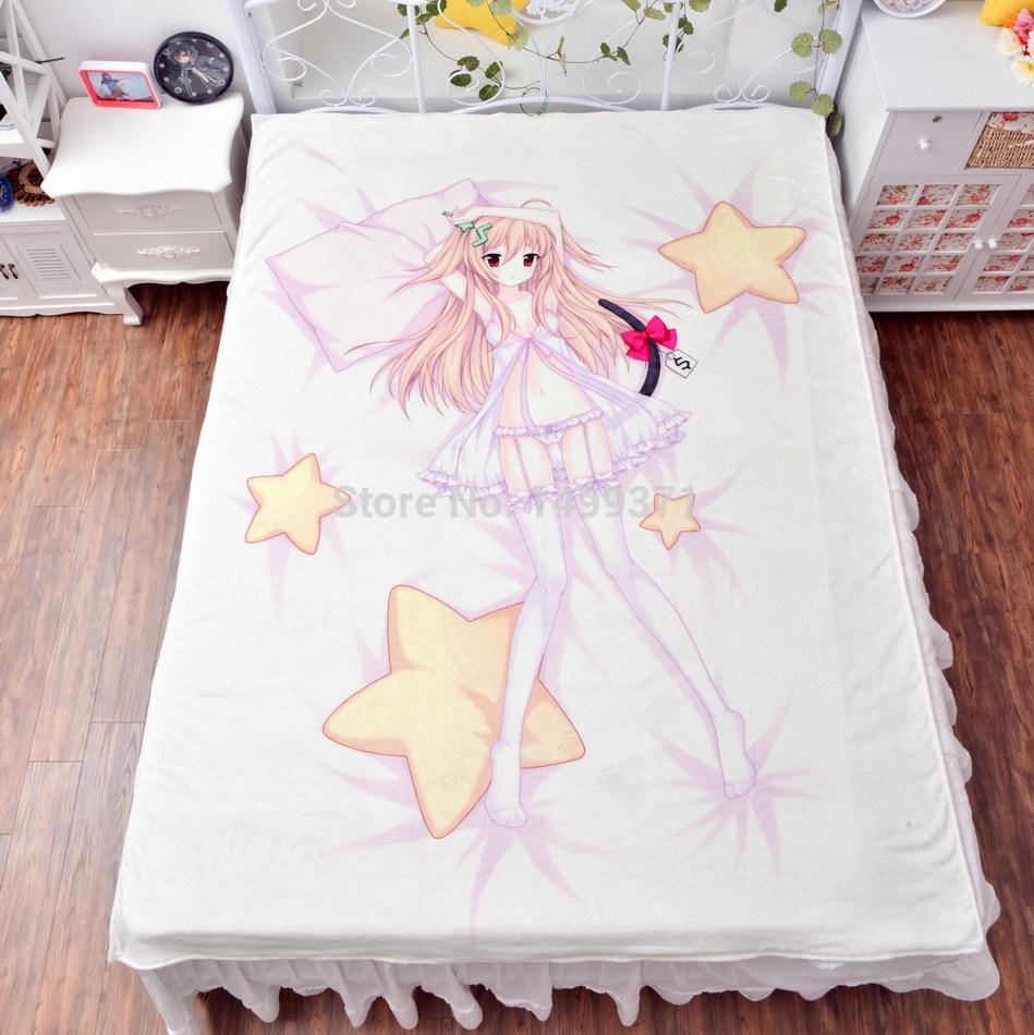 Free shipping Wholesale bedding Kanban Musume Visible Record Sheet Series Flannel Blanket 150cmx200cm High Definition Printing(China (Mainland))