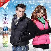 man and woman winter vest every couple autumn decoration body shall vest jacket Korean men cotton casual vest collar