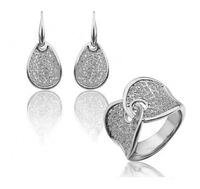 Wholesale 18k gold White Gold Plated  rhinestone fashion Jewelry Sets necklace ring 1346