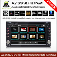 Universal 2 din Android 4.2.2  Car Autoradio player GPS+Wifi+Bluetooth+1.6GB CPU+Capacitive Touch Screen+3G+free camera +map
