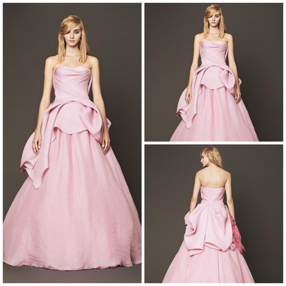Popular light pink wedding dresses simple aliexpress for Simple pink wedding dress