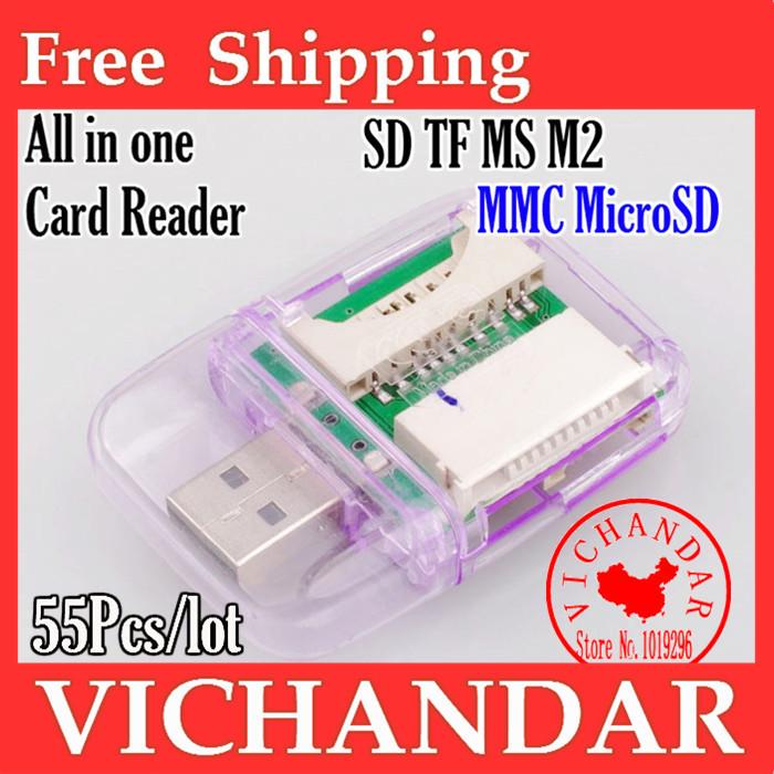 memory card reader ordinateur portable sim reader copy phone micro sd to usb camera connection kit memory stick pro duo usb card(China (Mainland))