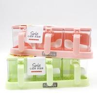 Kitchen supplies seasoning box fashion plastic 3 fps seasoning box sauce pot 965