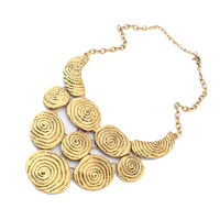 new brand design fashion woman sell well 18K gold necklace vintage necklace  Tau stitching thread wafer 100136