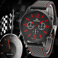 2014 New Arrival Brand Quartz Men Sports watch military Casual Watches GT Wristwatch Dropship Silicone Band Clock Fashion watch
