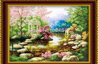 "Wall Home Decoration Cross Stitch Precision Printing  5D "" Garden"" Cross-Stitch Kit , DIY Cross Stitch Sets,"