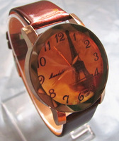 Fashion Watches New arrivals Women Luxury Eiffel Tower Three-dimensional Leather Watch