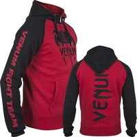 "VENUM ""PRO TEAM 2.0"" HOODY - BLACK/RED  MMA training fight  HOODIE"