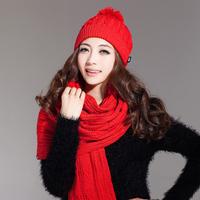 Free Shipping Christmas Gift 2pcs Set Women Fashion Scarf Hat Warm 2014 Xmas Hot Selling