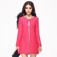 Free Shipping New Arrival Korea new ladies OL women's windbreaker , plus size luxury fashion quality coats XL XXL XXXL XXXXL