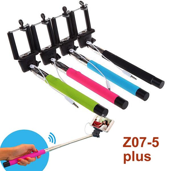 buy z07 5 plus handheld monopod audio cable wired selfie sti. Black Bedroom Furniture Sets. Home Design Ideas