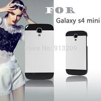 YOSA02 2014 new style Brushed Aluminum Metal S4 mini back Cover phone case For Samsung Galaxy mini s4 i9190 + Free screen film