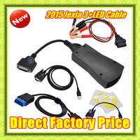 New arrival ! lexia3+led cable Diagbox (V7.56)Diagnostic Tool pp2000 lexia 3,lexia-3 diagbox pp2000 led