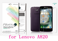 NILLKIN screen protector Lot! Matte OR Super clear HD anti-fingerprint protective film for LENOVO A820 +retailed package