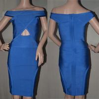Style Number C025 Off Shoulder royal blue sexy keyhole off the shoulder dress
