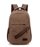 2014 Korean version of the new men canvas backpack schoolbag bag factory direct wholesale cc62