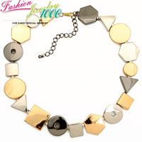 New Triangle Rectangle Round Irregular Shape Choker Collar Bib Necklace For Women Fashion Vintage Chunky Statement Jewelry