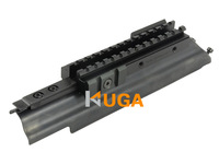Stealth Black MTAK Receiver Cover AK AK47 Tri-Rail Weaver Picatinny Scope Mount With Adjustable Side Weaver Tabs For Accessory