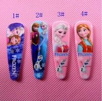 wholesale40pcs/lot Frozen 4 Styles Anna elsa anime girl hair accessories hair clip Children headwear Hairpin Accessories free sh