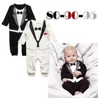 Gaga Deal 1pc Kid Baby Boy Cotton Gentleman Romper Jumpsuit Clothes Outfit 6-24M Baby Boy Kid Casual Romper Gentleman