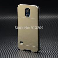 YOSA02 Newest Luxury Aluminum Slim Metal Case For Samsung Galaxy S5 I9600 Brush Motomo Phone Back Cover Case HK free shipping