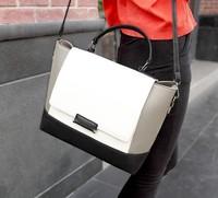 Hot  !!OL career handbag bucket bag hit the color shoulder Mobile Messenger bag big bag superstarWL4015