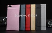 YOSA02 Drop shipping 2014 New arrive Case for Xiaomi M3 Korean Motomo Design Luxury Aluminum Mini Rice Mi3 Back Cover Bag