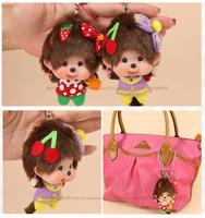 WJ219-10 Fashion Plush Doll Toy 9CM Monchhichi Car Bag Mobile Phone Ornament Pendant Style Supernova Sale Baby Birthday Gift