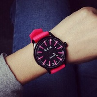 2014 new fashion Classic Brand Women Silicone quartz Watch Jelly 6 colour women  dress watches Christmas gift free shipping