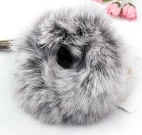 Winter fashion Rabbit hair ball hair bands Super elastic Elastic Hair Bands,beautiful fur Women hair accessories
