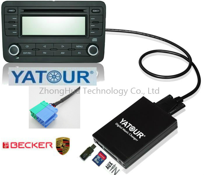 Yatour Digital Car Audio USB Stereo for Becker Porsche Mercedes Benz Ford SD AUX CD Changer Bluetooth adapter interface(China (Mainland))