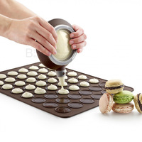 Macarons Macarons round hole silicone mat silicone mat Leku * macarons with paragraph 30 and even mold / 48 even