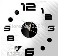 Home Decoration 3D Mirror Wall Clocks Safe Modern Design DIY Large Digital Watch Wall Sticker Big Clocks Home Decor