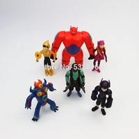 Anime Cartoon Big Hero 6 Toys Dolls Hiro Hamada Baymax PVC Action Figure Collectible Toys 6pcs/set