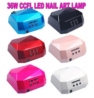 Fashion CCFL 36W LED Light Diamond Shaped Best Curing Nail Dryer Nail Art Lamp Care Machine for UV Gel Nail Polish EU Plug