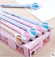 Beauty 24pcs/lot Black Refill Parachute Gel Ink Pen Mix Colore Gel Pen Stationery Office/School Supplies #GP256
