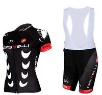Woman's  Black Bike Jerseys Cycling Suits Short Sleeve Road Riding Suit cool Girl Sports Lady Bicyle (bib) Shorts XS~4XL
