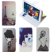 Print drawings 360 rotation pu leather cartoon Universal case for ZTE Blade G Lux,gift