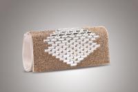 Women's Hot Sale New Fashion Rhinestone Diamond Crust Cover Evening Bag Cotton Fabric Hard Clutch Wholesale Free shipping