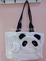 Panda bag shoulder bag cross-body female one shoulder book bags female autumn and winter female cartoon plush cartoon