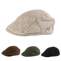 Unisex Personalized Hat Patchwork Fashion Berets Plaid Caps Women Men Visors