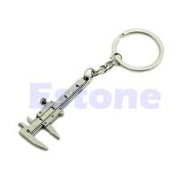 D19  Novelty Simulation Movable Vernier Caliper Model Key Chain Keyring Specail Gift
