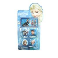 2014 New Cartoon Minecraft  Frozen Toys Seal Stamp Toys Princess Anna Hans Olaf Action Figure Kids Christmas Gift 4PCS/SET