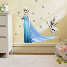 gefroren elsa olaf schneeflocken tapetensticker aufkleber vinyl kinder baby kind dekor chris(China (Mainland))