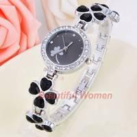 2014 New Arrivals Women Dress Watches Fashion Lucky Clover Wristwatches Ladies Wrist Watch SV007883