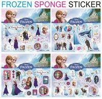 Wall Clock All free Shipping ! 400 Sheets Sponge Puffy Frozen Sticker(15x17cm) Sticker /children Fashion Decoration Stickers