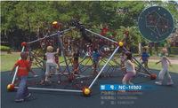 outdoor rope climbing playground