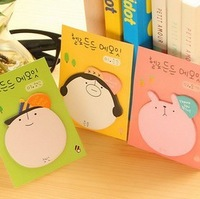 Free Shipping 20PCS/LOT Cute Cartoon Head Style Memo Pad Promotion Gift